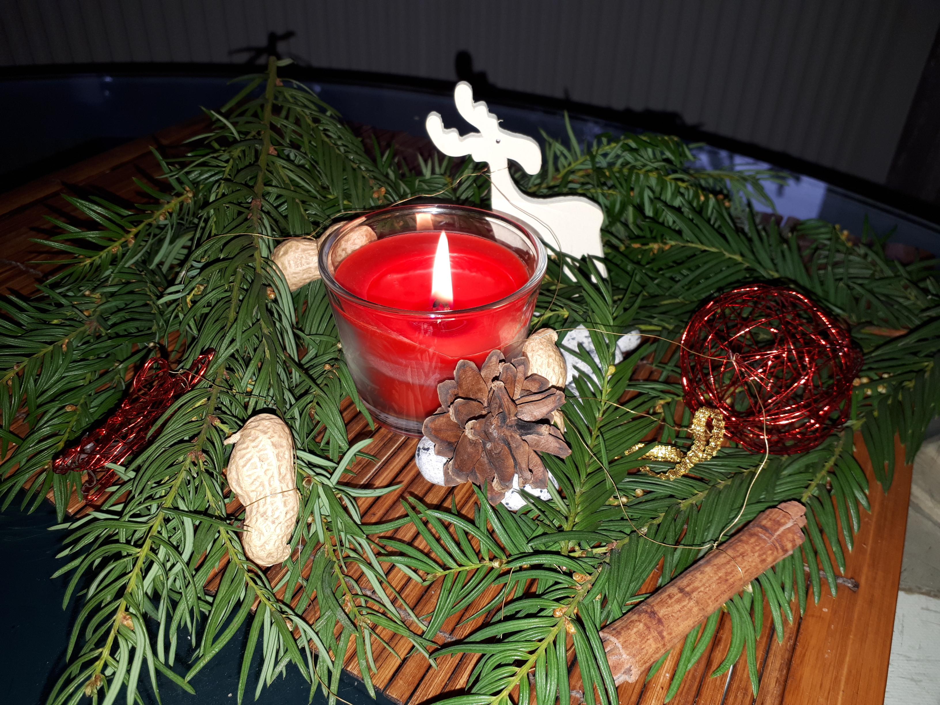Adventszeit Kerze Weihnachten made in freedom